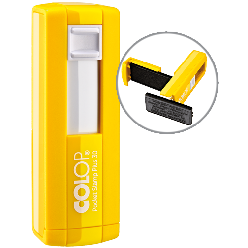 Colop Pocket Plus 30 - zółty
