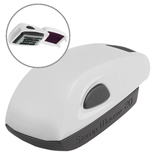 Colop Stamp Mouse 20 - biały